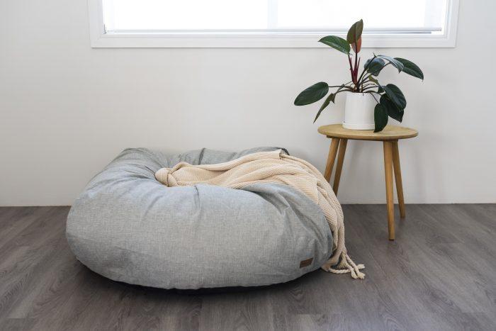 Round mound on grey floor
