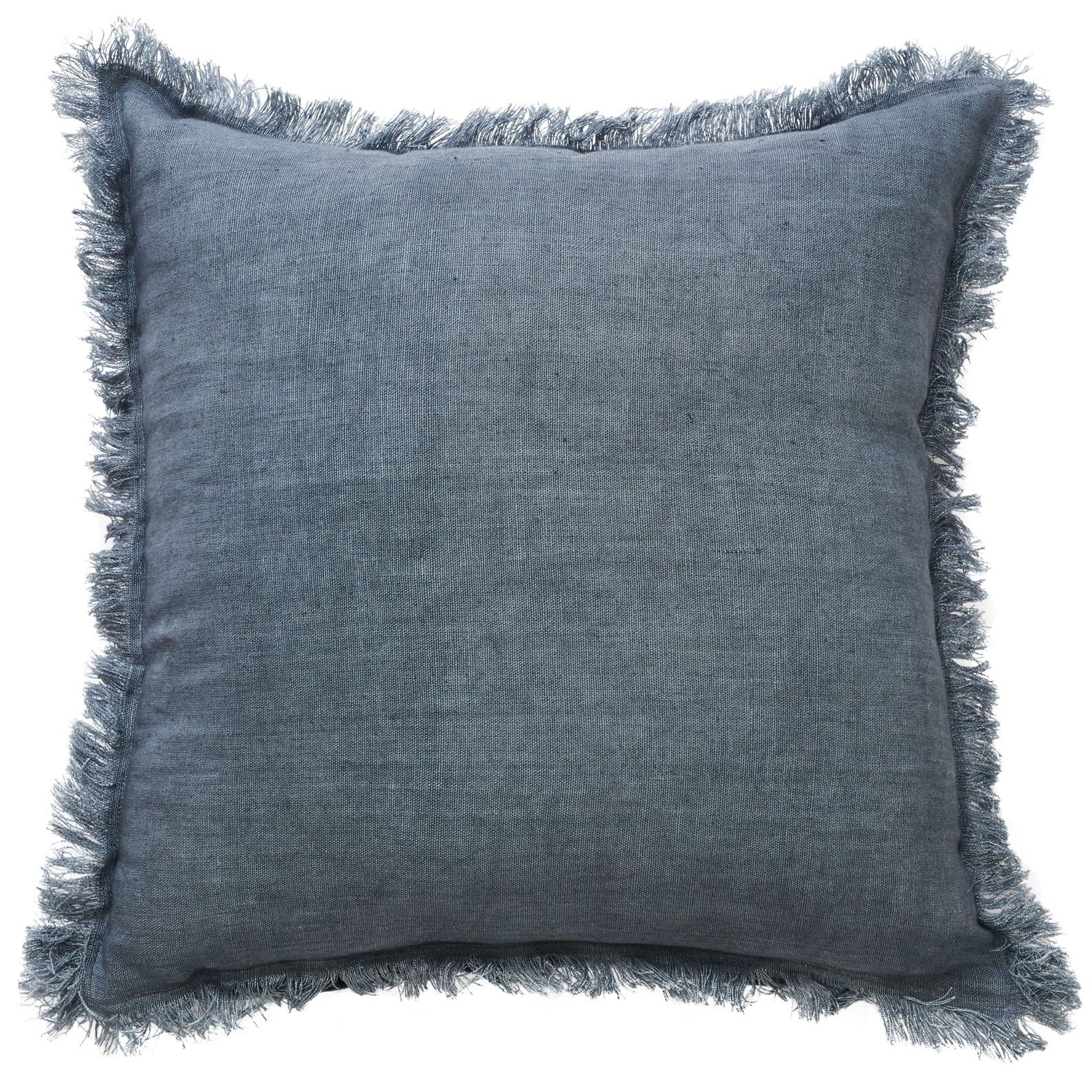 Monaco Fringe Cushion Grey