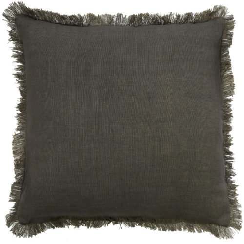 Classic Capella Fringe Cushion Stone
