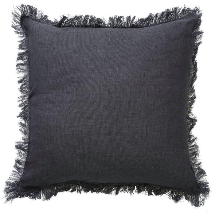 Classic Monaco Fringe Charcoal Cushion