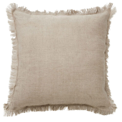 Classic Monaco Fringe Cushion Natural
